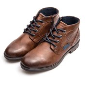 XPER Men Trendy British Style Anti-slip Lace-up Boots
