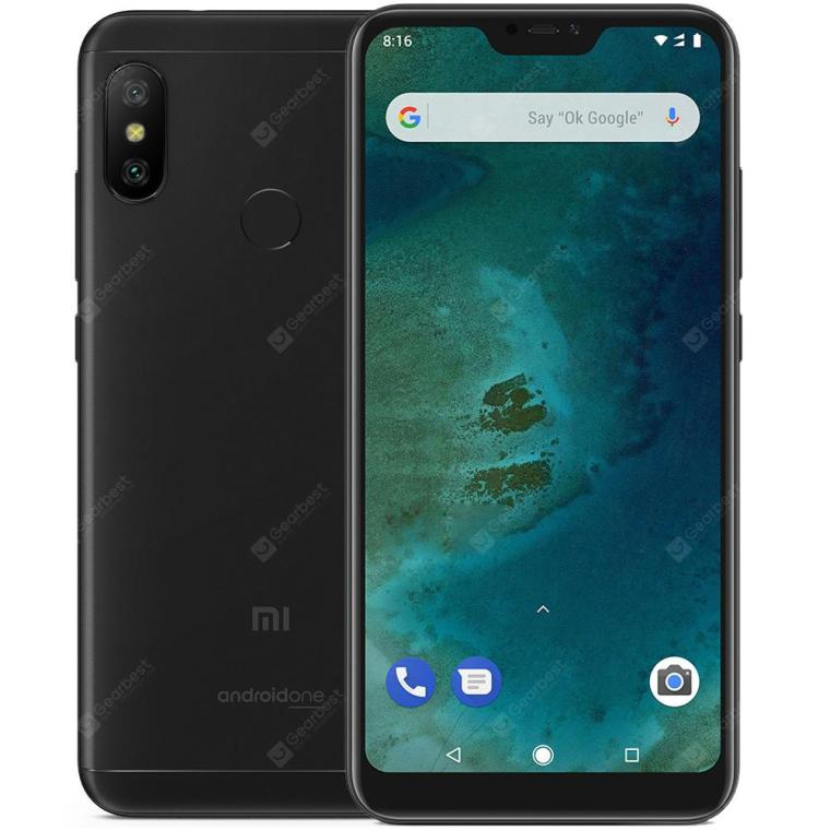 Gearbest Xiaomi Mi A2 Lite 4G Phablet Global Edition - BLACK