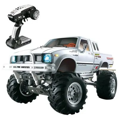 HG P407 1/10 2.4G 4WD Rally Rc Car for TOYATO Metal 4X4 Pickup Truck Rock Crawler RTR