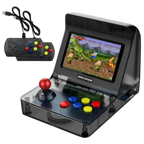 Mini Retro Arcade Handheld Game Console Rocker Double Gamepads