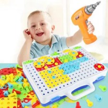 Assembled Building Blocks Electric Drill Toy for Kids
