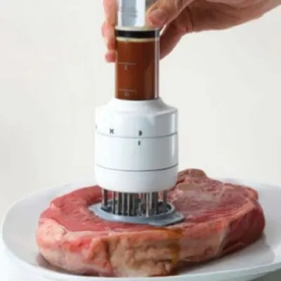 Multi-function Seasoning Injecting Meat Steak Tenderizer Needle