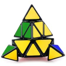 Third-order Triangular 4-sided Puzzle Alien A Pyramid Cube Toy