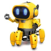 GE-893 Steam Education DIY AI Smart Robot Infrared Evades Bonds Walking ABS Child Toy