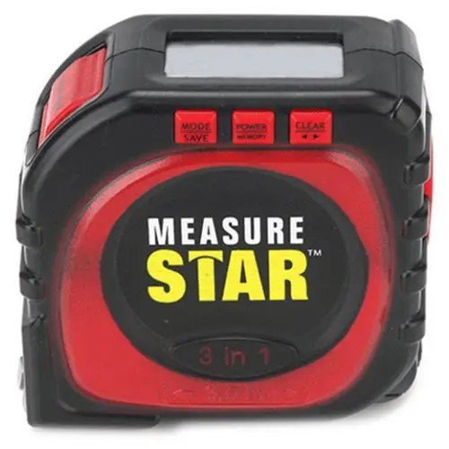 3-in-1 High Precision Tape Laser Digital Curved Corner Measuring Ruler LCD Screen Rangefinder