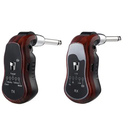 K380C 5 In1 UHF Wireless Effects Bluetooth Transmitter Receiver for Electric Guitar Bass