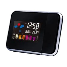 Digital LCD Wall Projection Weather Condition Display LED Alarm Clock