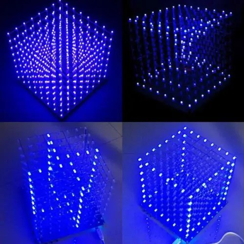 Bricolage électronique LED Cube 3D Light Square