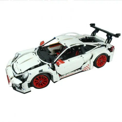 Children DIY Assembled Building Blocks Super Sports Car Toys Set
