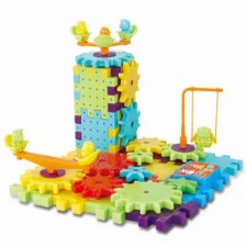 Children's Educational Variety Electric Building Blocks Assembled 81 Bags of Gear Construction Toy