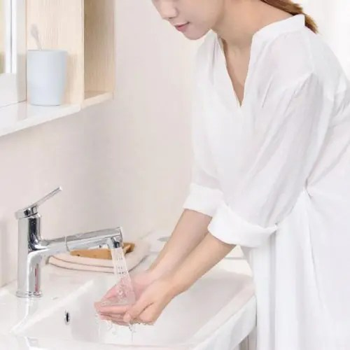 From Xiaomi DABAI Bathroom Basin Sink Faucet w / Pull Out Rinser Sprayer Gargle Brushing 2 Mode Mixer Tap