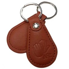 NFC Tag Card Fully Compatible Large Capacity 888 Bytes Leather Keychain
