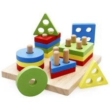 Wooden Educational Shape Color Recognition Geometric Puzzle Toys
