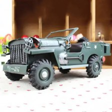 Retro Military Model Cross-country Metal Car Craft Decoration