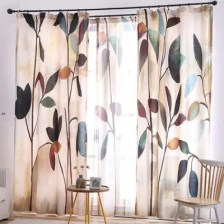 Small Fresh Printing Blackout Fabric Curtain
