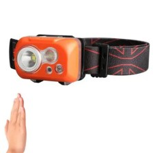 KLARUS HC1 - S 2 LEDs 300LM 5 Modes 60 Degrees Adjustable IPX8 Waterproof Motion-controlled Cycling Headlamp
