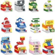 12-in-1 City Street View Series Assembled Building Blocks 451PCS