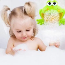 Children Electric Frog Bubble Machine with Music