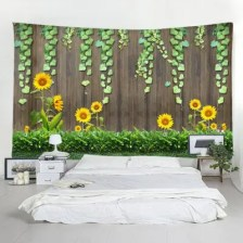 Home Decor Wooden Board Sunflower Tapestry