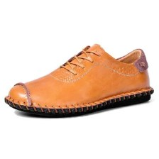 AILADUN Men's Second Floor Cow Skin Casual Shoes Lace-up