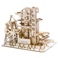 Robotime Run Game DIY Waterwheel Wooden Model Building Kits Assembly Toy