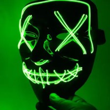 LED Halloween Theme Colorful Mask Cosplay Costume Supplies