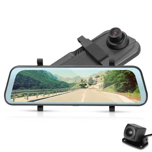 Tecney T98 9.66 Inch Touch Screen 1080P Dash Cam Car DVR