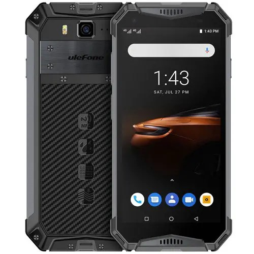 Ulefone Armor 3W 4G Phablet 5.7 inch Android 9.0 Helio P70 Octa Core 2.1GHz 4GB RAM 64GB ROM 21.0MP Rear Camera 10300mAh Battery Face ID Fingerprint Recognition IP68 IP69K