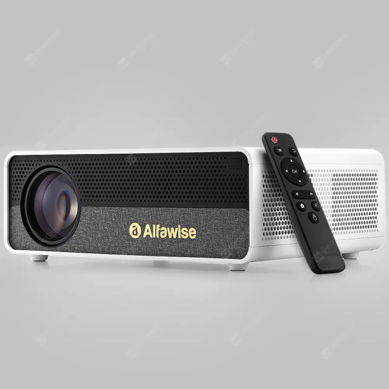 Alfawise Q9 BD1080P 40-300 inch Mirroring Screen 4K Smart Projector with High Brightness - White Android OS - 189.62€