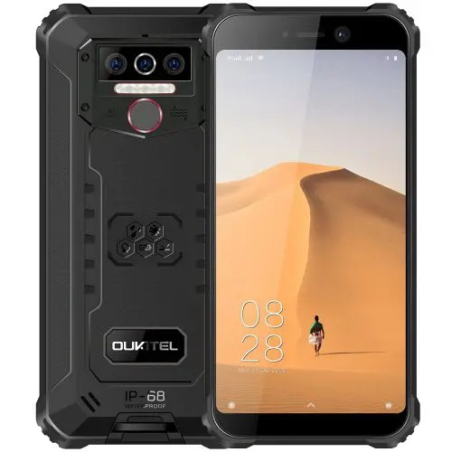 OUKITEL WP5 4G Smartphone 8000mAh Battery 5.5 Inch 3 Rear Camera Android 9.0 3GB RAM 32GB ROM IP68&IP69 Waterproof Global Version