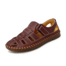AILADUN Fashion Men's Summer Hollowed-out Solid Color Shoes Breathable Outdoor Casual Sandals
