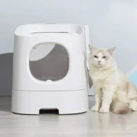 Homern 13L First Class Cat Litter Box with Large Filtration Area Active Oxygen Bacteriostasis Technology from Xiaomi Youpin
