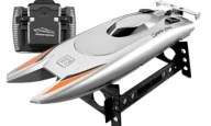 Upgraded Version 2.4G Remote Control Boat Speed Boat Yacht Race Boat Toys for Children
