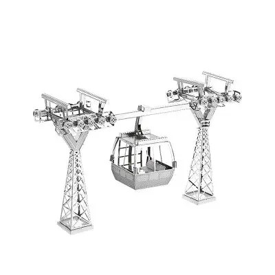 Gearbest 3D Metal Puzzle Tourist Cable Car - SILVER Intelligence Development Toy Model Gift Ornament
