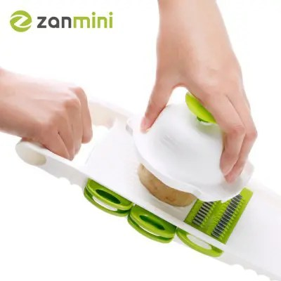 Gearbest zanmini ZVC05 Vegetable Grater Manual Cutter - WHITE AND GREEN