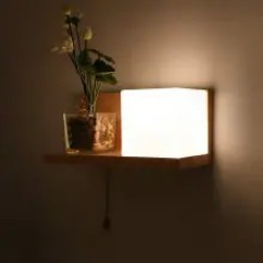 Living Room Wall Lamps Hanging Ceiling Lights For India Best Online Shopping Gearbest Com Creative Solid Wood Storage Bedside Lamp Aisle Corridor Japanese Style Lighting Modern Minimalist