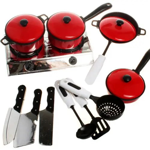 kids kitchen toys marshalls 13pcs children house utensils cooking pots pans food dishes cookware baby toy set 10 35 free shipping gearbest com