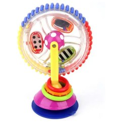 Revolving Chair For Baby Desk Sale Three Colored Ferris Wheel Windmill Dining Trolley Suction Toy