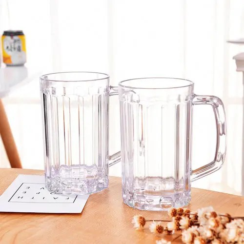 2pcs beer glasses clear