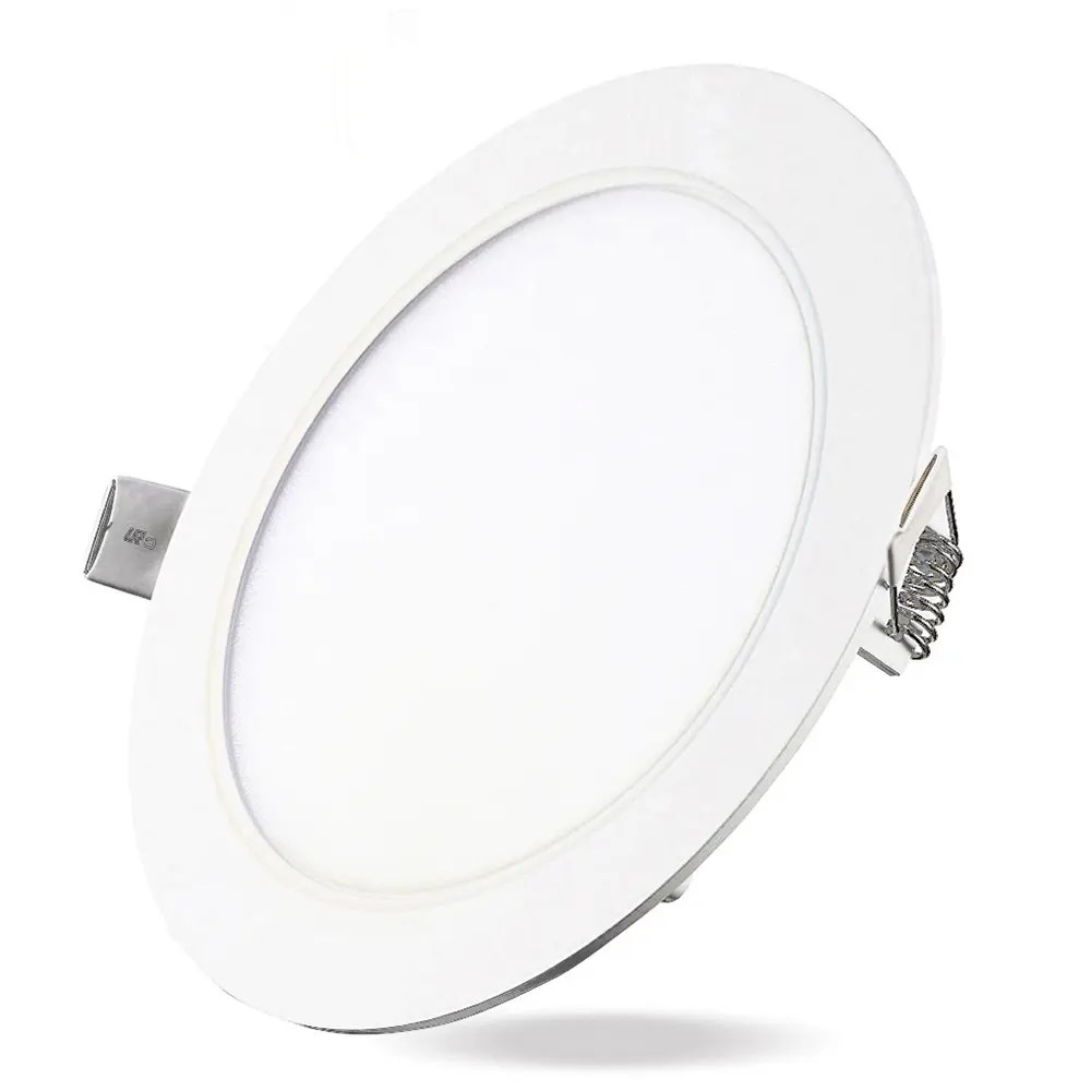 9W Dimmable Round Flat LED Panel Light Lamp Ultra-thin LED