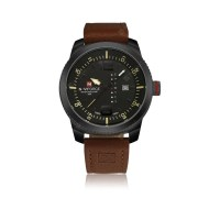 NAVIFORCE Men Military Sports Quartz Date Leather Wrist watch
