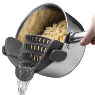 Kitchen Strainer Clip On Silicone Colander