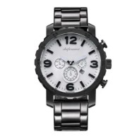 Classic Men Stainless Steel Strap Wristwatch