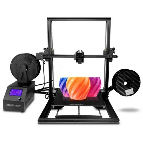 ZONESTAR Z10M2 Mixed Color Fast Assemble Large Size Dual Extruder 3d Pritner