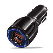 Dual USB Car Charger Quick Charge 3.0 for IPhone/ Samsung /XIAO MI / HUA WEI