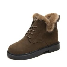 Low Heel Lace Warm Short Boots