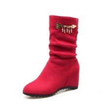 Fashionable Women'S Boots in Round Head