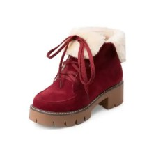 Winter Thick with Thick Snow Boots Fluffy Warm Women'S Boots Round Head Boots