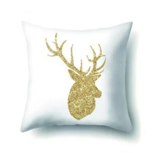 Simple gold cuddly pillowcase