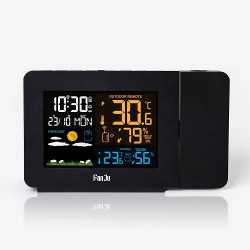 FanJu FJ3391 Color Weather Station with Projection / Weather Monitor Clock